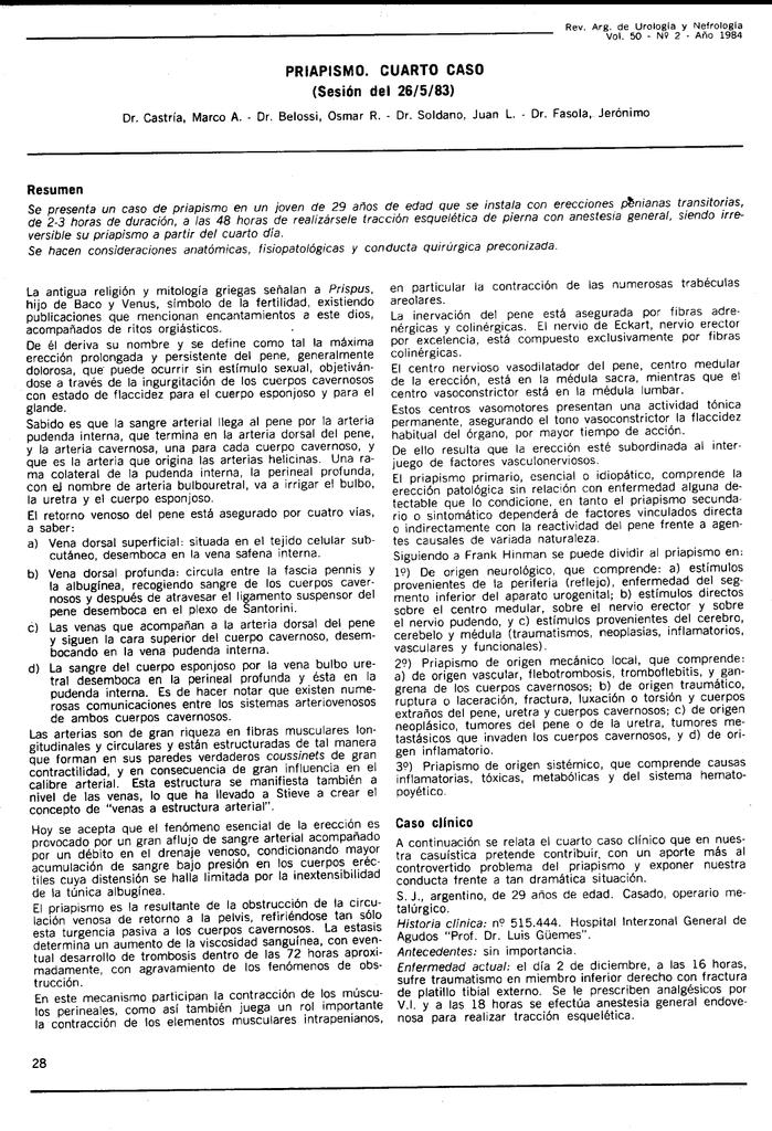 Resumen Caso clínico 28 - Revista Argentina de Urología