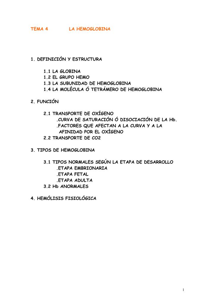 Hema 04 La Hemoglobina