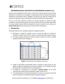 DETERMINACION DEL COEFICIENTE DE UNIFORMIDAD DE