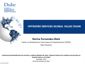 OFFSHORE SERVICES GLOBAL VALUE CHAIN Karina