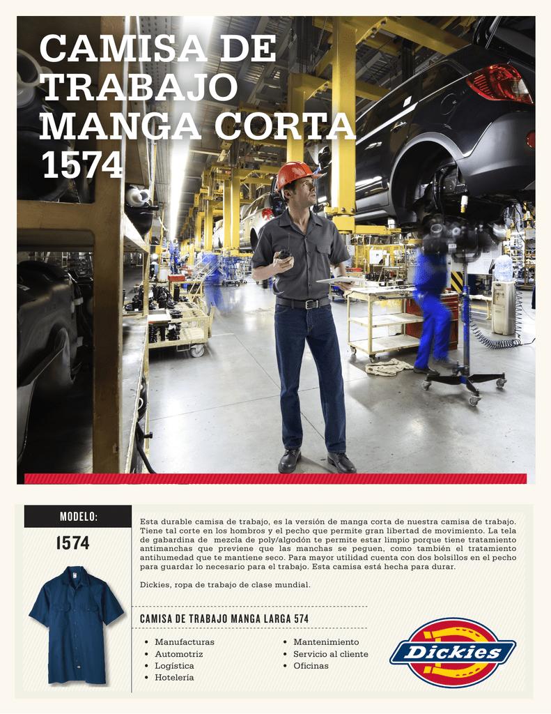 f713f3b1e6 CAMISA DE TRABAJO MANGA CORTA 1574 MODELO  1574 Esta durable camisa de  trabajo