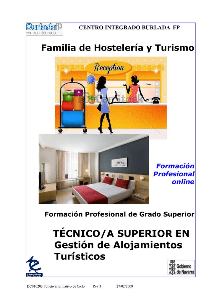 Ciclo Formativo De Grado Superior Gestión De Alojamientos