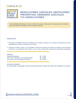 resoluciones judiciales, anotaciones preventivas, demandas