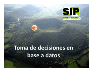 Toma de decisiones en base a datos