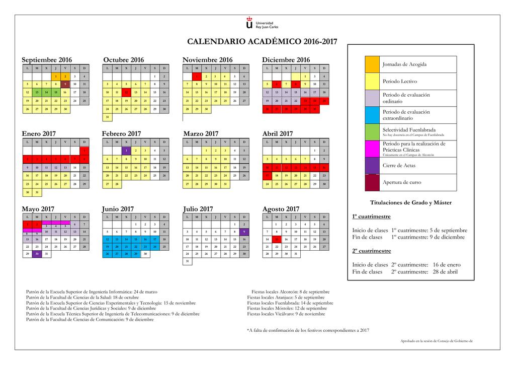 Uah Calendario Academico.Top 10 Punto Medio Noticias Calendario Urjc 2020