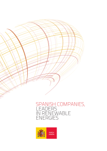 SPANISH COMPANIES, LEADERS IN RENEWABLE ENERGIES