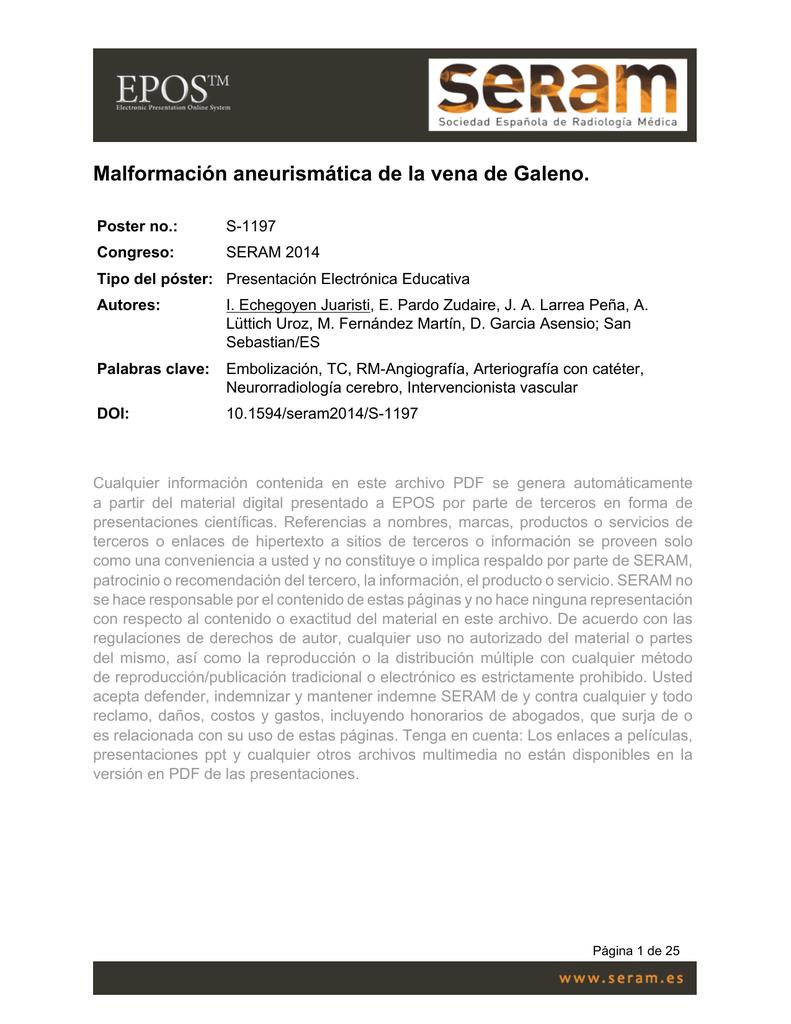Malformación aneurismática de la vena de Galeno.