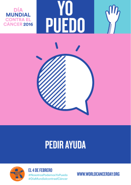 pedir ayuda - World Cancer Day