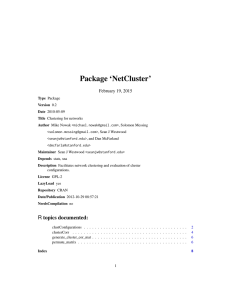 Package `NetCluster`