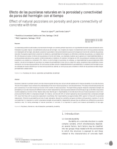 Effect of natural pozzolans on porosity and pore