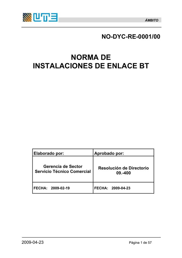 Norma de Instalaciones BT