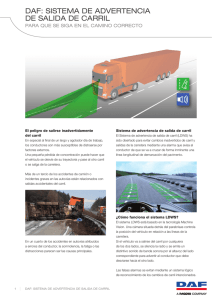 DAF: SiStemA De ADvertenciA De SAliDA De cArril