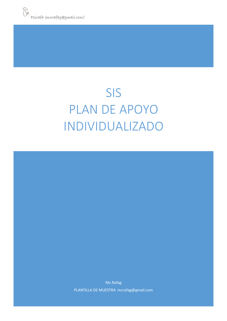 SIS PLAN DE APOYO INDIVIDUALIZADO