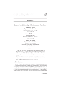 Estad´ıstica Extreme-based Clustering of Environmental Time Series