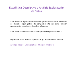 Estadística Descriptiva o Análisis Exploratorio de Datos