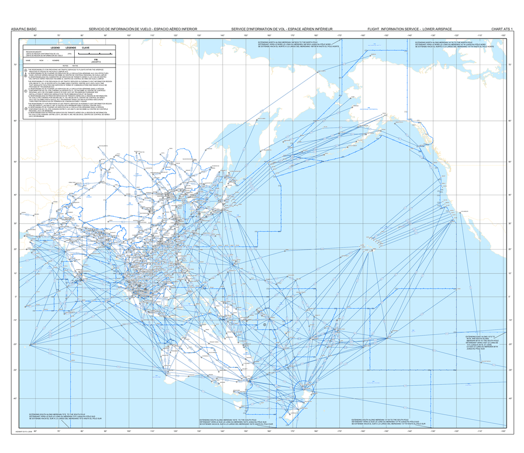 Map Of Upper Asia.Airspace Map Asia Ats Routes Fir Upper
