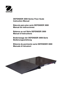 DEFENDER 3000 Series Floor Scale Instruction Manual
