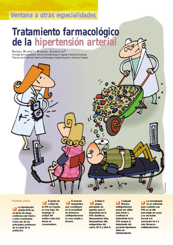 Tratamiento farmacológico de la hipertensión arterial
