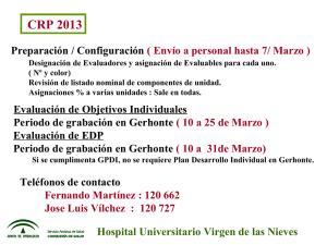 Información Sobre Servicios Asistenciales De Salud