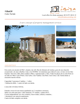 Villa650 Cala Tarida A new concept of property management services