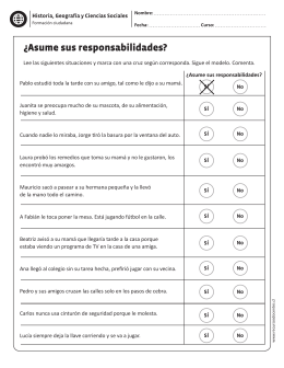 ¿Asume sus responsabilidades?