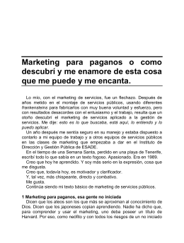 25. Marketing para paganos o como descubrí o me