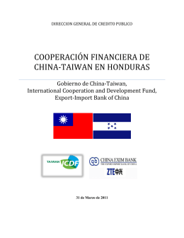 COOPERACIÓN FINANCIERA DE CHINA