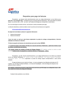 Requisitos para pago de facturas