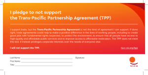 I pledge to not support the Trans-Pacific Partnership Agreement (TPP)