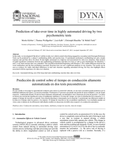 Prediction of take-over time in highly automated driving by two