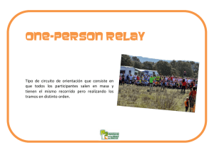 One-person relay - Orientación en los Parques