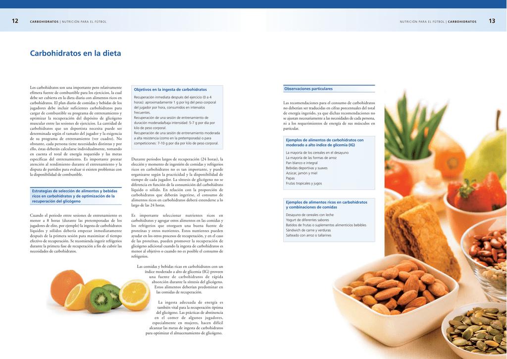 la dieta rica en carbohidratos