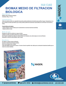 ha1340 biomax medio de filtracion biologica