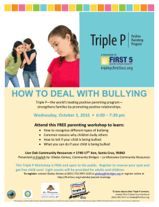 how to deal with bullying - First 5 Santa Cruz County