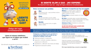 ¿siente olor a gas? - Northeast Gas Association