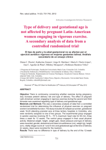 Type of delivery and gestational age is not affected by pregnant