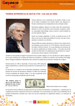THOMAS JEFFERSON (13 de Abril de 1743