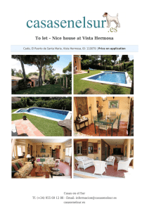 To let – Nice house at Vista Hermosa