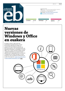 Nuevas versiones de Windows y Office en euskera