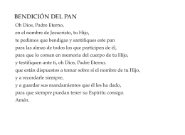 BENDICIÓN DEL PAN