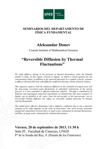 "Aleksandar Donev ""Reversible Diffusion by Thermal"