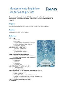 Bolet n oficial del estado for Mantenimiento de piscinas pdf
