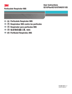 Particulate Respirator N95 User Instructions 8210Plus/8210