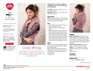 Cozy Shrug - Red Heart