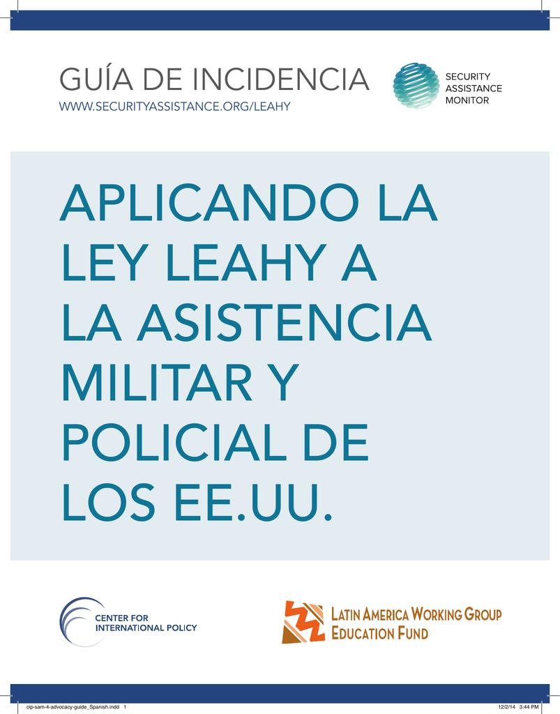 APLICANDO LA LEY LEAHY A LA ASISTENCIA MILITAR Y