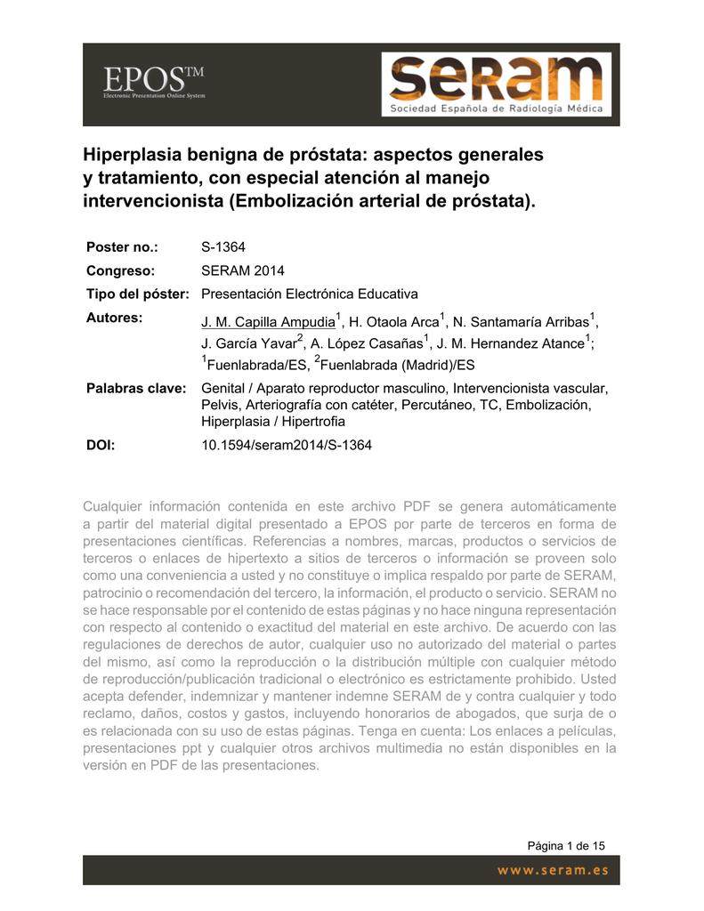 hiperplasia benigna de prostata tratamiento pdf