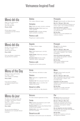 Menú del día Menú del dia Menu of the Day Menu
