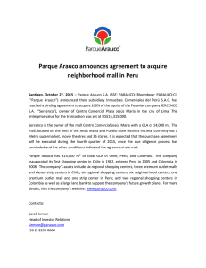Parque Arauco announces agreement to acquire neighborhood mall