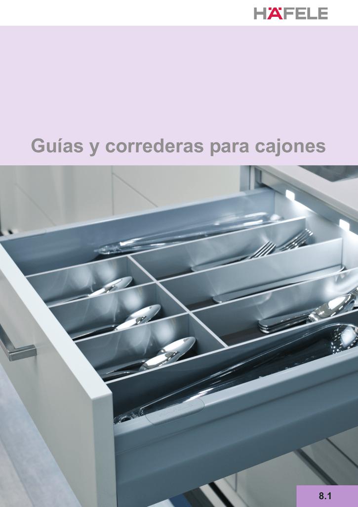 4 piezas Gu/ía para caj/ón de extracci/ón total y SoftClosing Alto 45 mm//L 600 mm Carril de caj/ón 2 pares