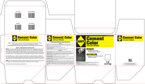 Cement Color Additive / 5 lb Packaging Art / Generic / PDF